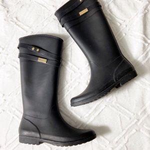 Tommy Hilfiger Tall Rain Boots Black Wellies